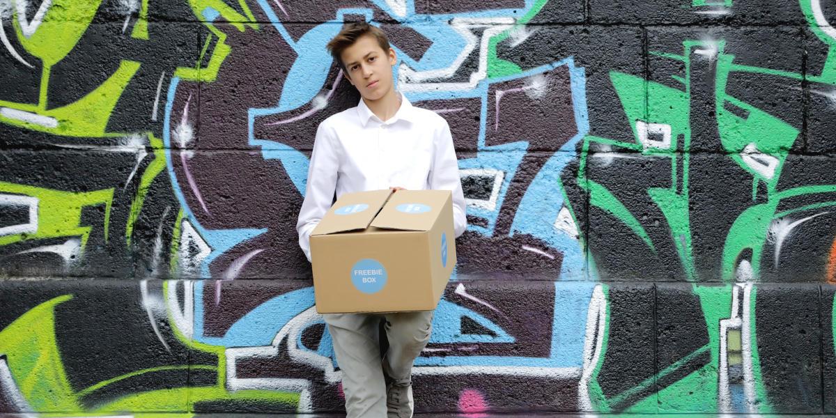 FreebieBox — Moritz will dich überraschen!